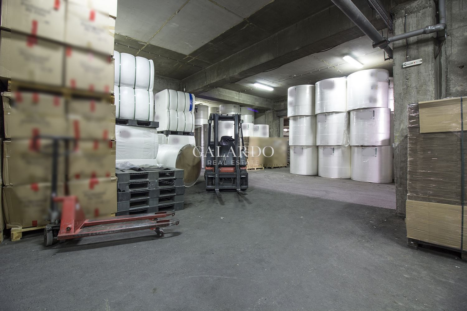 Warehouse in administrative building