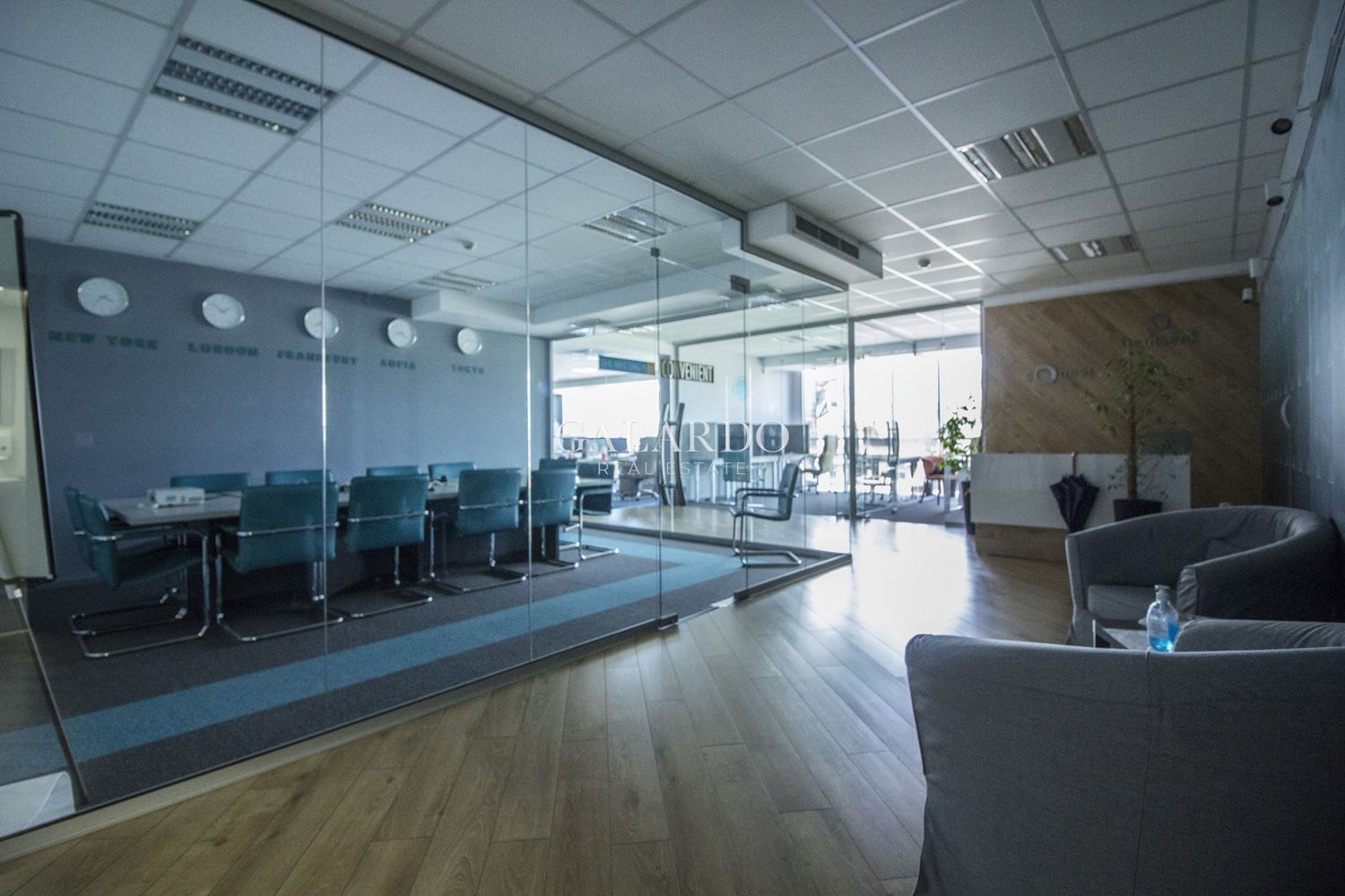 Spacious office in a modern building