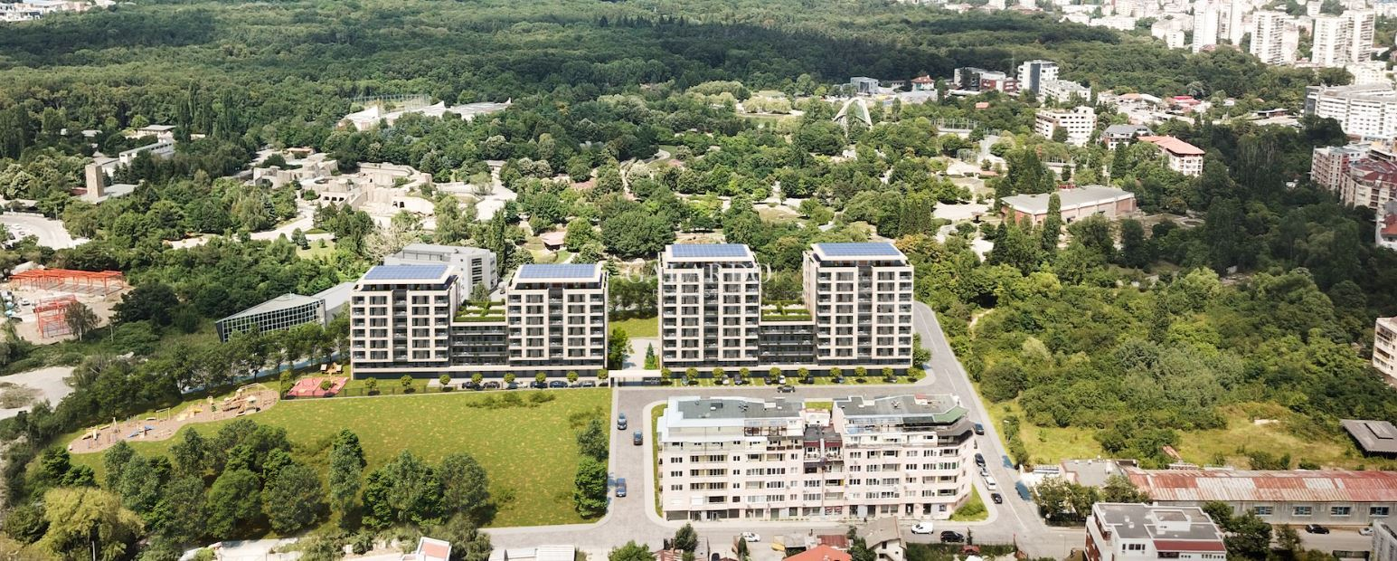 One bedroom apartment with a large terrace in a gated complex in Hladilnika