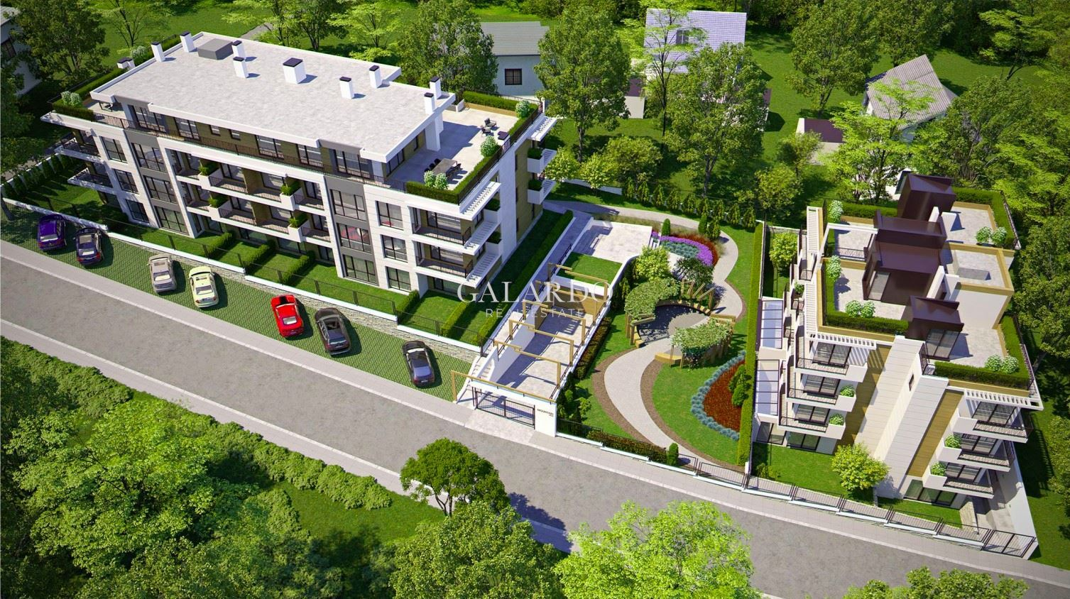 Two-bedroom apartment with own yard in a gated complex at the foot of Vitosha Mountain