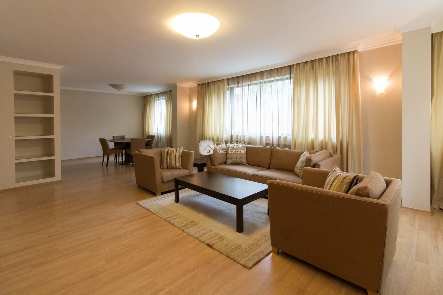 Functional apartment in a representative building